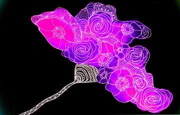 Abstrakte Blume/Abstract Flower/Abstract Blume/ Fleur abstraite von Joke Gorter