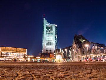 Augustusplatz in Leipzig bij nacht van Animaflora PicsStock
