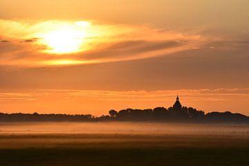 Zonsopkomst Middelstum / Sunrise Middelstum van Henk de Boer
