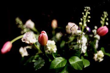 Close-up van roze boeket van Atelier Liesjes