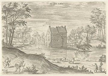 Hans Collaert (I), Gezicht op slot Coensborg te Laken van Atelier Liesjes
