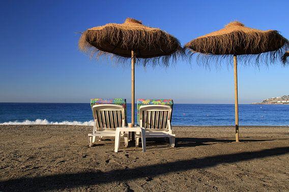 Relaxen op het Strand van Cornelis (Cees) Cornelissen