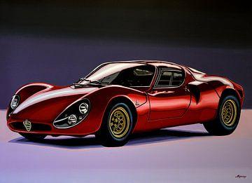 Alfa Romeo 33 Stradale Schilderij van Paul Meijering