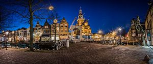panorama van oude binnenstad Alkmaar van