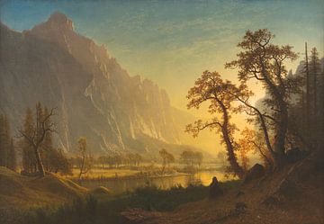 Zonsopgang, Yosemite Valley, Albert Bierstadt