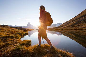 Bergwandelen Zwitserse Alpen Matterhorn van
