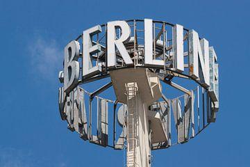 Berlijn reclame en typografie van