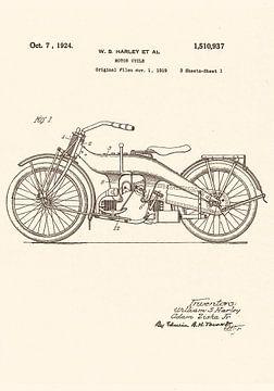 Harley - Davidson 1924! von Jaap Ros