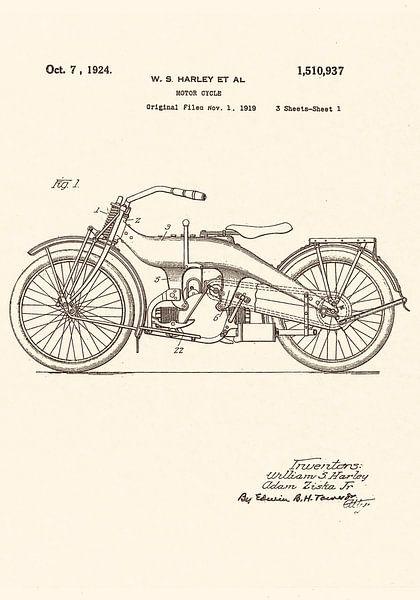 Patent HARLEY - DAVIDSON 1924! van Jaap Ros