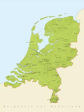 Bergkaart Nederland van