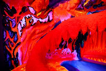 Fluorescerende grot van Petra Brouwer