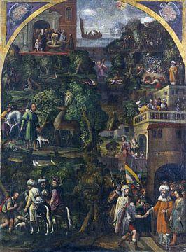 Legende van de Heilige Eustachius, 16-17e eeuw van Atelier Liesjes