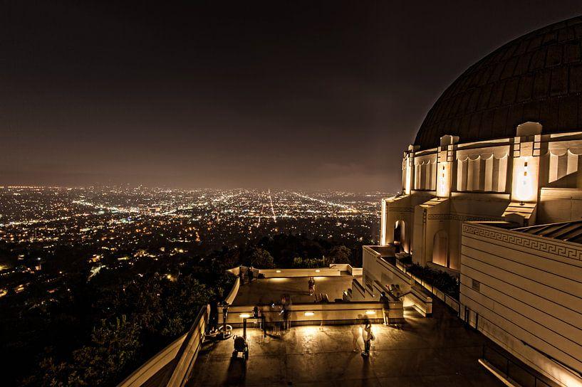 Los Angeles as seen from Griffith Observatory van Wim Slootweg