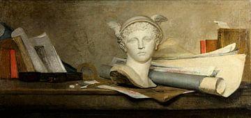 Stilleben mit Attributen der Kunst, Jean-Baptiste Siméon Chardin
