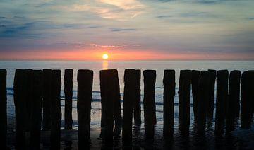 Zonsondergang in Zeeland van Mark Bolijn
