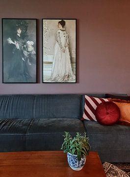 Kundenfoto: Symphonie in Fleischfarbe und Pink: Porträt von Frau Frances Leyland, James McNeill Whistler