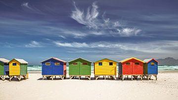 Badehäuser bei Kapstadt von Achim Thomae