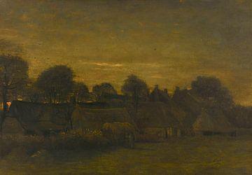Bauerndorf am Abend, Vincent van Gogh, 1884
