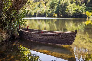 Boot auf dem Fluss von Omri Raviv