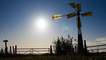 Moulin à vent au lac de repère sur Nathalie Pol