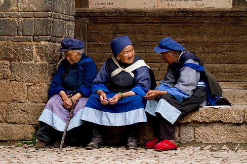 Oude vrouwtjes in China van