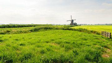 Holländisches Poldergebiet mit Windmühle von Ruud Morijn