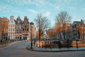 Herfstzon Keizersgracht Amsterdam van Captured By Manon