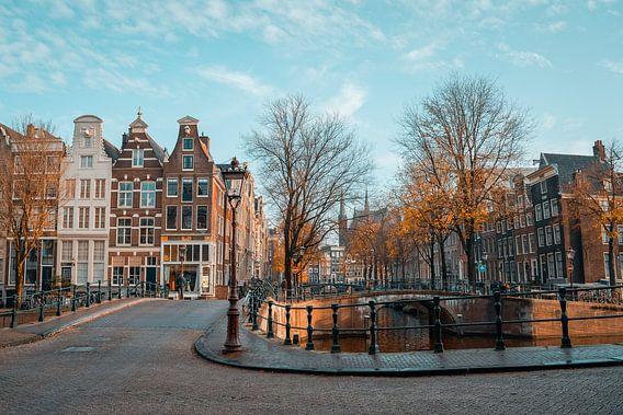 Herfstzon Keizersgracht Amsterdam