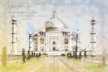 Taj Mahal, Agra Indien von Theodor Decker