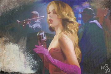 zangeres die de blues zingt von MD JO
