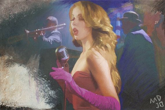 zangeres die de blues zingt