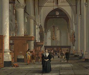 Interieur van de Laurenskerk in Rotterdam, Cornelis de Man, Cornelis de Man