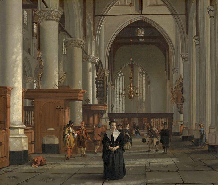 Interieur van de Laurenskerk in Rotterdam, Cornelis de Man, Cornelis de Man van Meesterlijcke Meesters