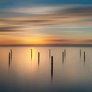 Zonsondergang IJsselmeer van