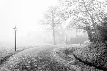 Un village dans le brouillard