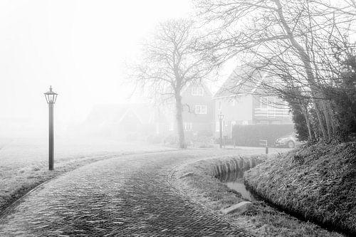 Dorp in de mist