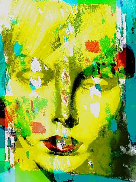 The yellow abstract face van Gabi Hampe