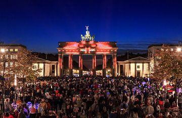 Berlijn, Brandenburger Tor in een bijzonder licht van Frank Herrmann