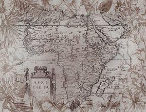 Vintage Afrika Kaart