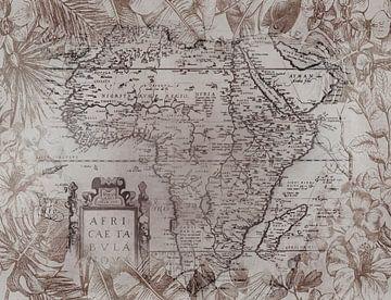 Vintage Afrika Landkarte von Andrea Haase