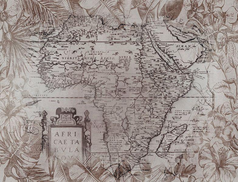 Vintage Afrika Kaart van Andrea Haase