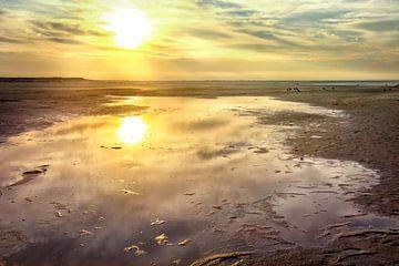 zonsondergangreflectie van Claudia Moeckel