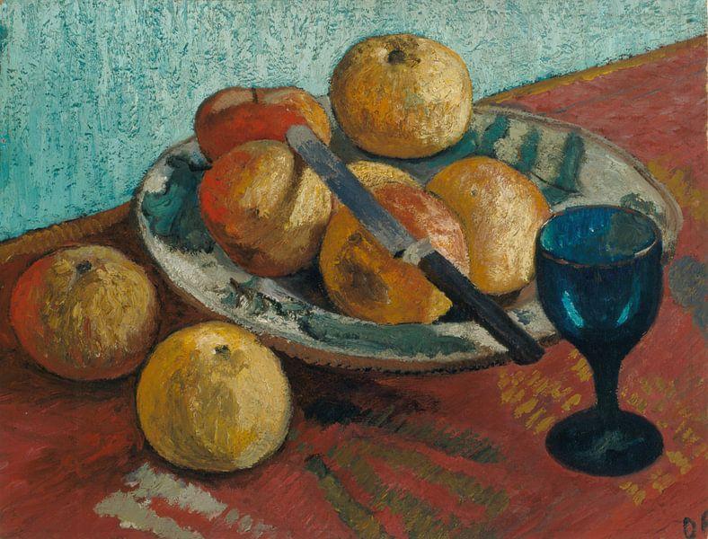 Stilleven met appels en groen glas - 1906 van Atelier Liesjes
