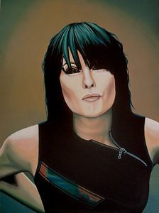 Chrissie Hynde schilderij