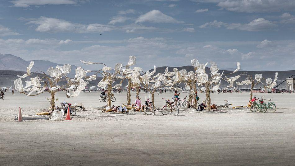 Burning Man 2016 - Art Installation Chrome Flowers  van Jelle Krings