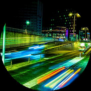 Rotonde Eemplein van Kei(stad) Donker