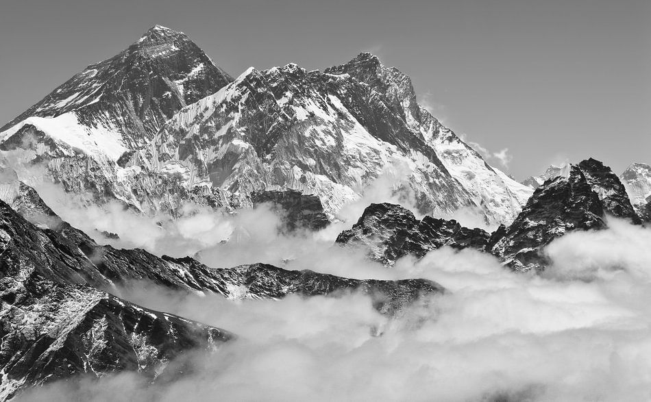 Mount Everest & Lhotse von Floris den Ouden