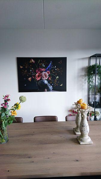 Klantfoto: Royal Beauty Bloemstilleven van Sander Van Laar, op canvas