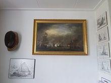 Klantfoto: VOC Zeeslag schilderij: Cornelis Tromp op het schip de 'Gouden Leeuw' , op canvas