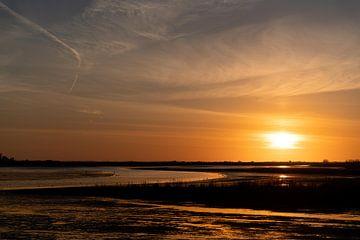 Zonsondergang van E Jansen